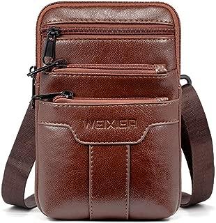 New Men's Multi-Function Pockets, one-Shoulder Diagonal Outdoor Casual wear Belt Mobile Phone Bag