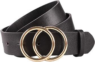 wide black leather belt womens
