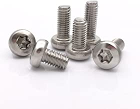 M5 Button Head Torx Socket Cap 304 Stainless Steel Machine Screw,Pack of 20-Piece (M5 x 6mm)