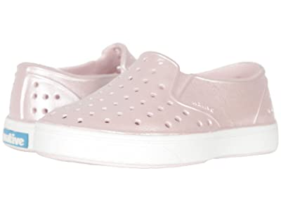 Native Kids Shoes Miles Metallic (Toddler) (Milk Pink Metallic/Shell White) Girl