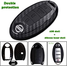 Keyless4U 4 Buttons Key Fob Remote Cover Case Protector Jacket for Nissan Altima Maxima Armada Murano Gt-r Sentra Rogue Pathfinder (Black)