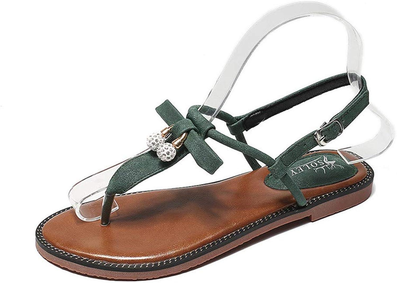Meimeioo Women's Strappy Thong Buckle Strap Roman Gladiator Flat Sandals