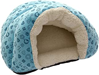 Cozy Cat Bed TozuoyouZ Non-Slip and Durable for Cats and Small Dogs Halloween Puppy Cave Pumpkin-Shaped Kennel