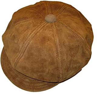 New York Hat and Cap Genuine Suede Leather Spitfire Cap