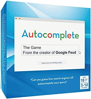 Autocomplete: an Autocorrect Guessing Game for Adults, for 3-10 Players, Ages 18+, Funny After Dinner Party Games for a Group