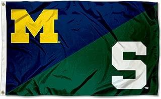 Michigan vs. Michigan State House Divided 3x5 Flag