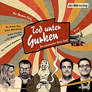 Tod unter Gurken     Ein mörderischer Krimi-Spaß              By:                                                                                                                                 Kai Magnus Sting                               Narrated by:                                                                                                                                 Bastian Pastewka,                                                                                        Kai Magnus Sting,                                                                                        Jochen Malmsheimer,                   and others                 Length: 2 hrs and 35 mins     Not rated yet     Overall 0.0