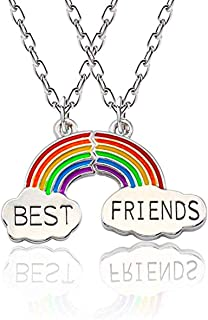 2pcs Necklace Set for Girls Best Friends Forever and Ever - Birthday Gift Necklace