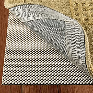 DoubleCheck Products Non Slip Area Rug Pad Size 3' X 5' Extra Strong Grip Thick Padding
