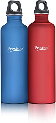 Prestige Colored Stainless Steel Water Bottle (pswbc 14) 1000 ml Each (Red, Blue)