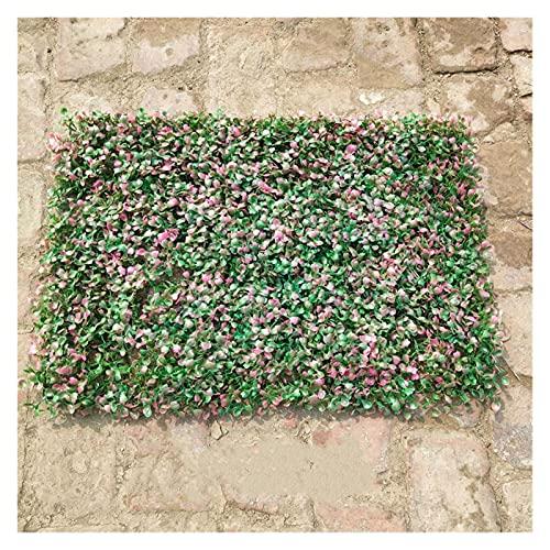 16''x 24 '' paneles artificiales de boxwood, cerca de la planta de cobertura de la cerca, esteras de vegetación sintética protegidas por UV, para jardín Decoración para el hogar Simulación Simulación
