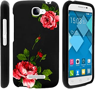 MINITURTLE Compatible with Alcatel One Touch Fierce 2 Case, Pop Icon Hard Case, A564C [Snap Shell] 2 Piece Rubberized Hard Plastic Case - Affectionate Flowers