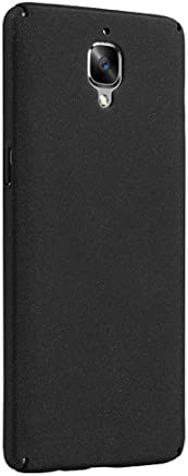 Tarkan Full Body Quicksand Matte Slim Hard Bumper Back Cover Compatible for OnePlus 3T / 3 (Sandstone Black)