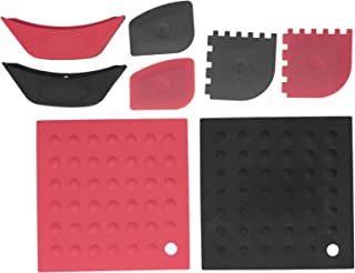 KIRSTHM 8Pcs/ Set Pot Holder Scraper Pan Handle Kit Silicone Anti- Scalding Accessory for Home Kitchen