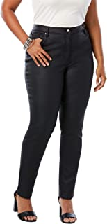 Women's Plus Size Coated Skinny Jean