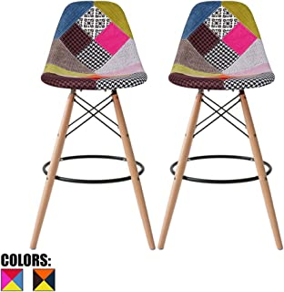 patchwork bar stools