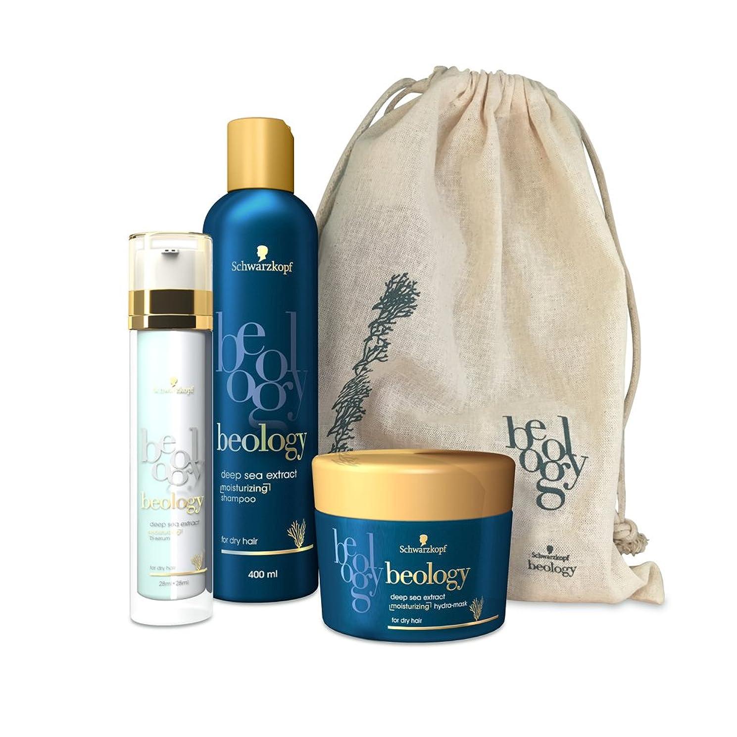 匹敵しますエイリアス相関するBeology - 3つの保湿製品のセット - バイセラム/シャンプー/マスク - ヘアケア用ディスカバリーバッグ