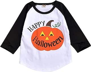 Toddler Kids Baby Halloween Costums Boy Girl Autumn Winter Pumpkin Long Sleeve T-Shirt Tops Outfit Shirt Clothes