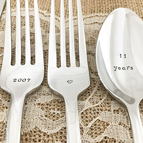 11th Anniversary, stainless steel silverware set, Lenox beaded