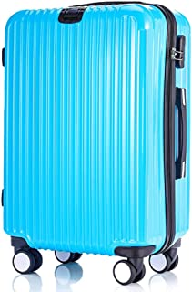 GLJJQMY Trolley Striped Luggage ABS PC Universal Wheel Luggage Luggage Trolley case (Color : Blue, Size : 24 inches)