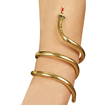 Ladies Girls Egyptian Gold  Snake Armband Fancy Dress Costume Accessory