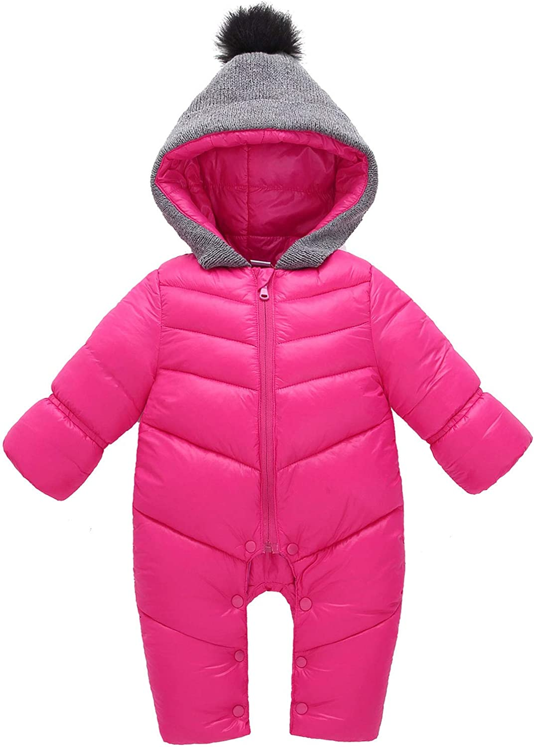Happy Cherry Unisex Baby Snowsuit Max San Francisco Mall 87% OFF Winter Hooded Clothes Down Inf