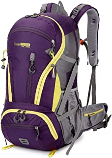 SP-Xhz Mountaineering Backpack Outdoor Lightweight Bicycle Backpack Mountaineering Trekking Backpack Travel Sports Backpack Camping Rock Climbing (Color : Purple, Size : 55 * 34 * 16cm)