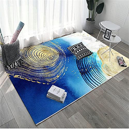 No Alérgico Alfombra Antiacaros Elementos Abstractos Grises Blancos Amarillos Azules Alfombra Salon 180X250cm