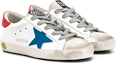 Golden Goose Luxury Fashion Ragazzo G36KS301B43 Bianco Pelle Sneakers   Ss21