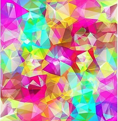 ArtzFolio Abstract Geometric Multicolored Triangles D3 Peel & Stick Vinyl Wall Sticker 20inch x 20.6inch (50.8cms x 52.4cms)