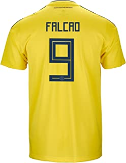 adidas Falcao #9 Colombia Official Home Men's Soccer Jersey World Cup Russia 2018