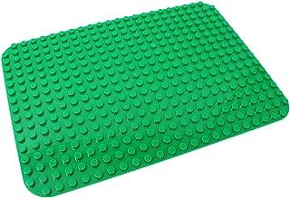 EMY 基礎板 ブロック プレート デュプロと互換性 角が丸い 24×17ポッチ (グリーン)