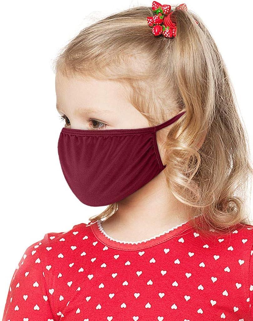 myisgk 10 St/ück Kinder Mundschutz Bequem Baumwolle T/ägliche Pflege Gesichtsschutz Wiederverwendbar Waschbar Atmungsaktiv Mundbedeckung Outdoor Staubdicht Einfarbige Face Shield