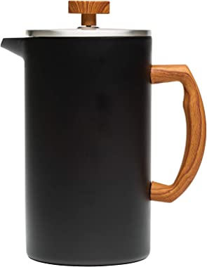 Primula Grant French Press Coffee Tea Maker Insulated Stainless Steel Double Wall Vacuum Sealed, Filtration with No Grounds,