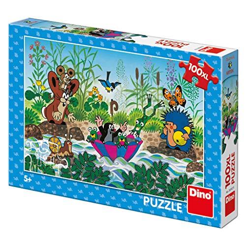 Dino Toys 343429 Dino Puzzle Kleiner Maulwurf Segeln 100 XL, Mehrfarbig