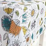GWELL Tischdecke Eckig Abwaschbar Oxford Tischtuch Pflegeleicht Schmutzabweisend Farbe & Größe wählbar Muster-I 140 * 260cm