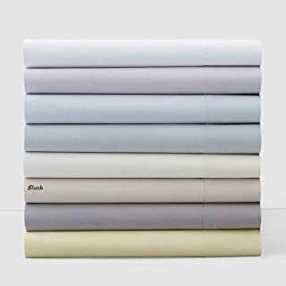 Hudson Park Collection 100% Cotton Cal King Fitted Sheet - Blush