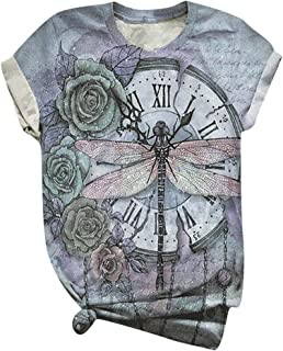 Xinantime Womens Dragonfly T Shirt X Large