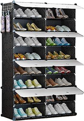 Zapatero, Caja De Almacenamiento De Almacenamiento De Múltiples Funciones Gabinete De Zapato De Plástico con Puerta (Color : 85 X 32 X 127CM)