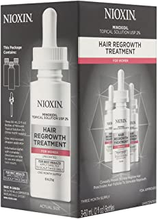 Nioxin Minoxidil Hair Regrowth Treatment Women, 6 oz.