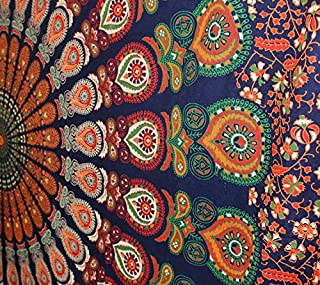 fairdecor Psychedelic Tapestry Wall Hanging Mandala BohemianTapestries Boho Cotton Bedspread Picnic Bedsheet Blanket Wall Art Hippie Tapestry