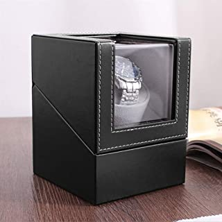 Automatic Single Watch Winder,Anti-magnetic design, low energy consumption,Pu leather Display Box Case [100% Handmade]