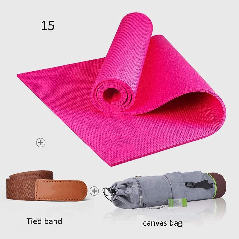 ヨガマットエクササイズマット、滑り止めヨガマット(8mm)-厚手&滑り止めフィットネスマットピラティスマット/ 72x24インチ防水および防湿