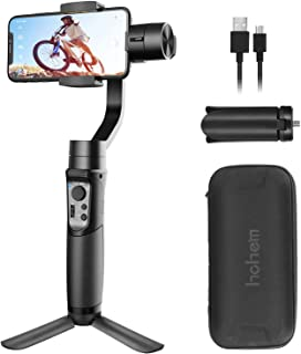 Smartphone Gimble 3-Axis Handheld iPhone Gimbal Stabilizer for Android Smartphone for iPhone 11/iPhone 11 Pro/Pro Max/XS/XS MAX/XR/8 for Galaxy S10/Plus/S9 (Hohem iSteady Mobile Plus: 2019 New Model)
