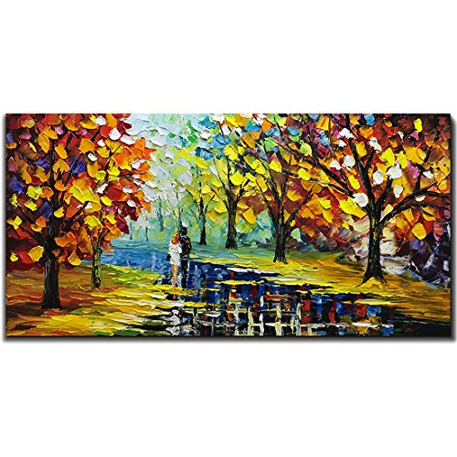 Fasdi Art 24x48inch Oil Painting 3D Hand-Painted On Canvas Abstract Artwork Art Wood Inside Framed Hanging Wall Decoration Abstract Painting