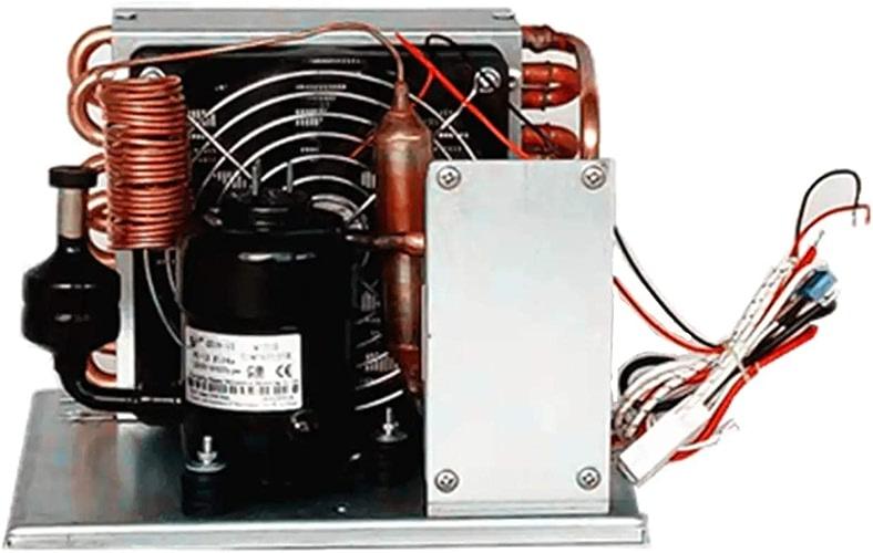 Micro DC Aircon CC 48V 137-455W de réfrigération directe avec la réfrigération directe de réfrigérant de R134A sans évaporateur Unité DC