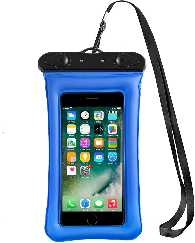 Waterproof Phone Pouch,Floating Waterproof Case Waterproof Phone Case IPX8 Available TPU Clear Dry Bag for iPhone Xs Max/Xr/X/8/8 Plus/7/7 Plus, Samsung, Google