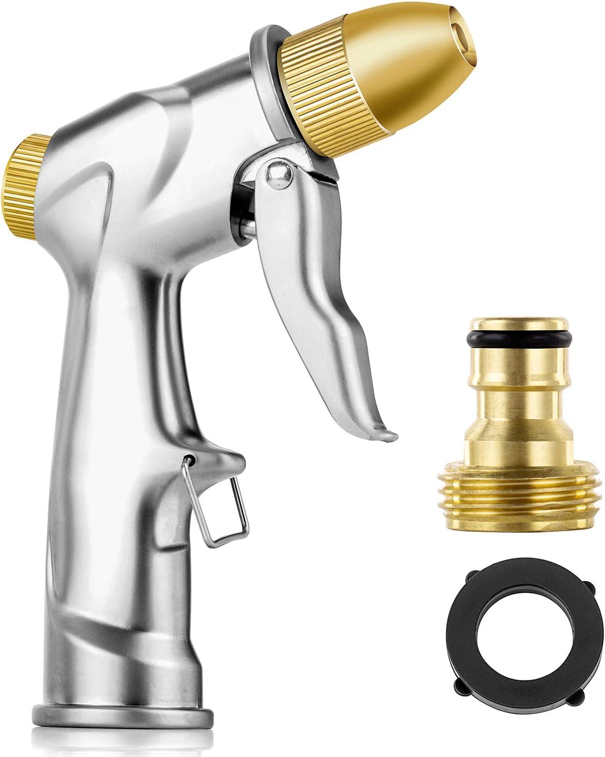 Doset Upgrade Garden Hose Nozzle Handheld 100% Memphis Mall Houston Mall Metal Duty Heavy
