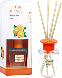 Sponsored Ad - binca vidou Orange and Lemon Reed Diffuser Set, Citrus Scented Reed Diffusers Set with 6 Natural Bamboo Sti...