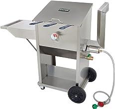 Bayou Classic 700-709 Stainless Steel 3 Basket Deep Fryer 9 Gallon Capacity